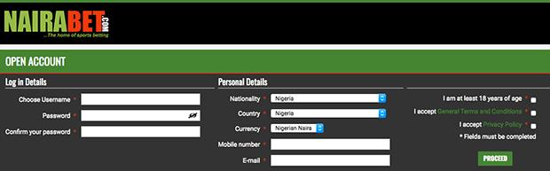 Nairabet new registration