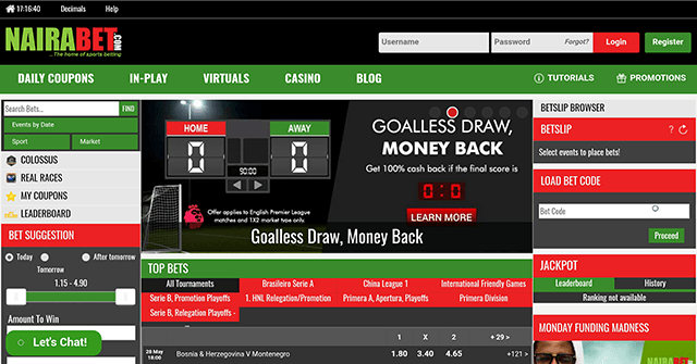 nairabet mobile desktop version
