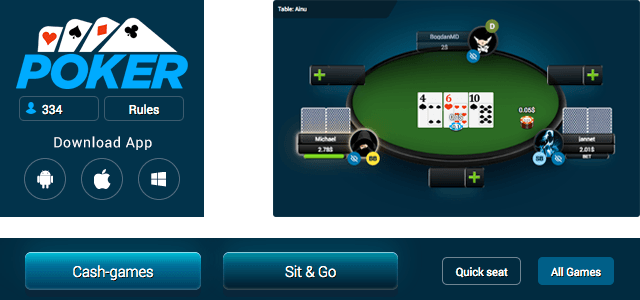 1xbet poker room