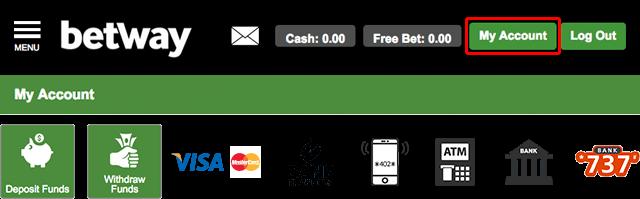 Payment methods in Betway