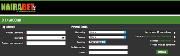 Nairabet new registration