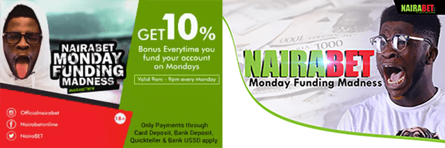 Nairabet Monday funding madness