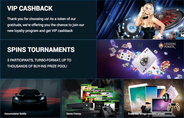 1xbet casino bonuses