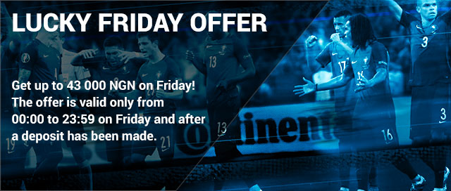 1xbet happy Friday offer